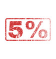 5 percent rubber stamp vector image vector image