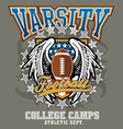 american football college vector image vector image