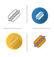 american hot dog icon vector image vector image