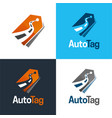 auto tag logo and icon vector image vector image