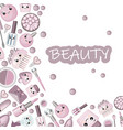 background for lettering cosmetics for children vector image