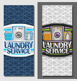banners for laundry service vector image vector image