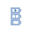 battery charge line icon concept battery charge vector image vector image