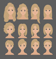 beautiful collection of female hairdo haircut vector image