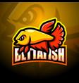 betta fish mascot esport logo design vector image vector image
