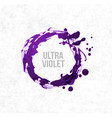 big ultra violet purple grunge circle on rice vector image vector image