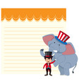 blank note circus theme vector image vector image