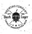 brewing company emblem label badge logo vector image vector image