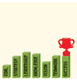Business graph with business text and trophy vector image vector image