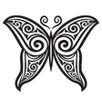 butterfly tattoo design symbol vector image vector image