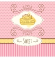 cake hand drawn card vector image vector image