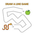 cartoon snake draw a line game for kids vector image vector image