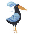 cartoon toucan indian a vector image vector image