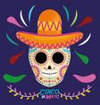 cinco de mayo death mask vector image vector image