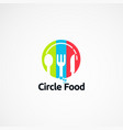 circle food simple logo designs concept icon vector image vector image