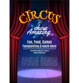 Circus show poster template with sign Festive vector image vector image