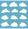 clouds flat design elements set vector image vector image