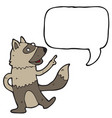 digitally drawn weasel and speech bubbles design vector image vector image