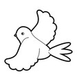 dove flying icon image vector image vector image