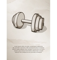 Dumbbell Vintage Label Logo Frame Brochures vector image