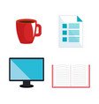 electronic learning technology icons vector image