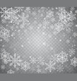 falling snow in different shapes christmas snow vector image