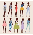 Fashion abstract girls looks vector image