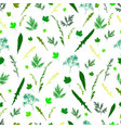 field wild grass leaves and twigs seamless pattern vector image