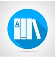 Flat round icon for books vector image vector image