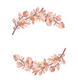 floral frame wreath with magnolia blooming flowers vector image vector image