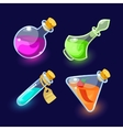 Glass flasks with colorful liquids vector image