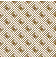 gold and white rhombs seamless pattern vector image vector image