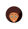head of woman black avatar character vector image vector image