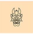 japanese demon oni mask logo design vector image vector image