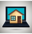 laptop computer with isolated icon design vector image vector image