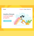 losing weight concept landing page vector image vector image