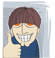Man with thumb up vector image