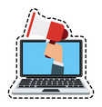 mobile loudspeaker icon image vector image vector image