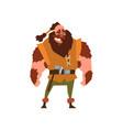muscular viking warrior character vector image