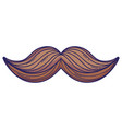 mustache cartoon isolated vector image vector image