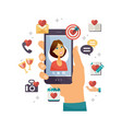 online dating app - modern colorful vector image vector image