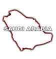 outline map of saudi arabia vector image vector image
