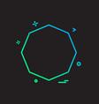 pentagon icon design vector image