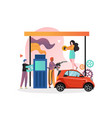 refueling concept for web banner website vector image
