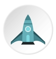 Rocket takes off icon flat style vector image