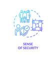 sense security concept icon vector image