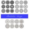 set 26 mandala design circle ornament vector image