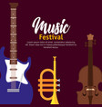 set music instruments icons vector image vector image