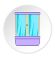Shower cabin icon cartoon style vector image