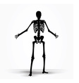 skeleton silhouette in pleading pose vector image vector image